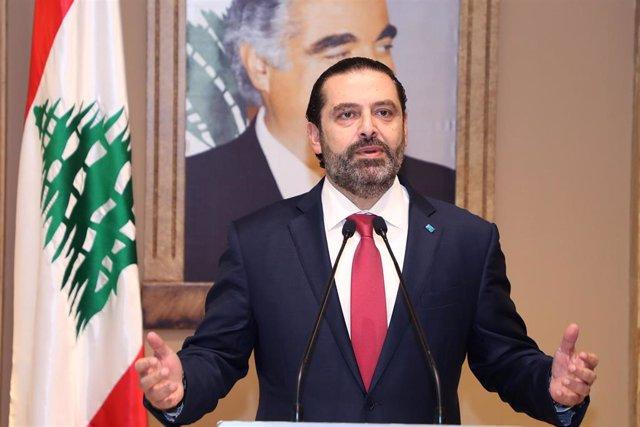 El primer ministro en funciones de Líbano, Saad Hariri