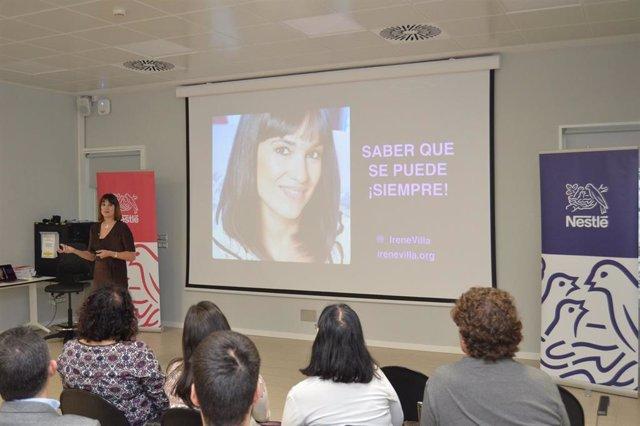 Irene Villa participa en un encuentro de Nestlé España sobre el Plan de Igualdad de la compañía