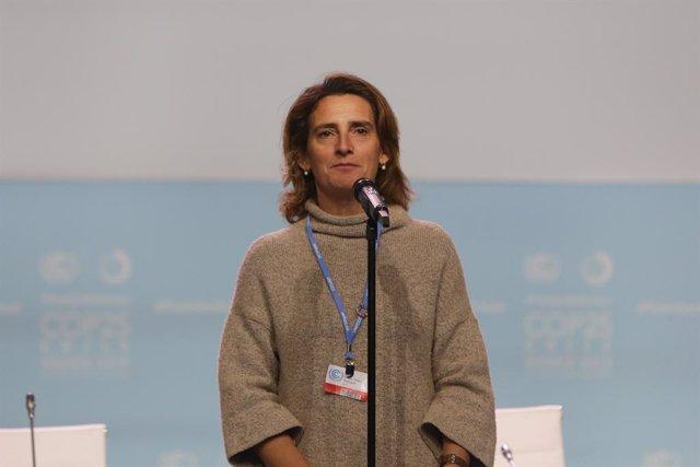 """COP25.- Teresa Ribera cree que Greta Thunberg tiene un mensaje """"muy potente"""" aun"""