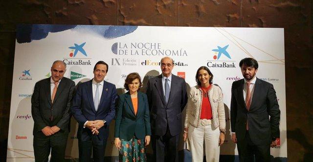 Carmen Calvo en la gala de la Noche de la Economía en la que se entregan los IX Premios El Economista.