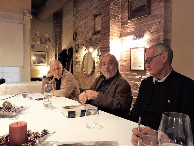 L'escriptor Ramon Balasch, el vicepresident de l'ANC Josep Cruanyes