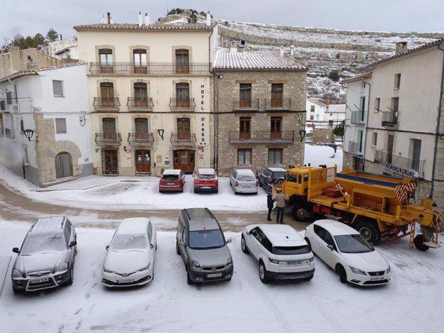 Nieve en Ares del Maestat en una imagen de archivo