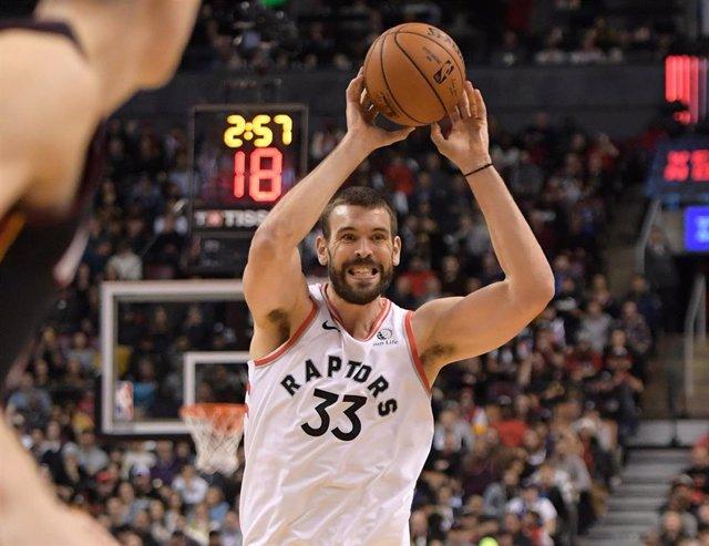 Marc Gasol jugando con Toronto Raptors