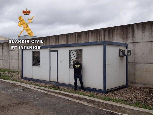 Caseta recuperada por la Guardia Civil tras haber sido robada