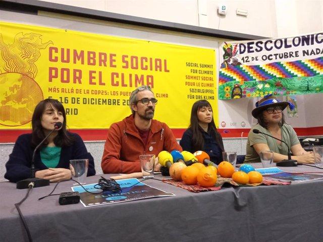 Presentación de la Cumbre Social por el Clima de Madrid.