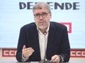 El líder de CC.OO. se reunió con Junqueras y Aragonés y les pide apoyo al Gobierno de Sánchez