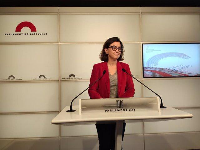 La portaveu del PSC en el Parlament, Eva Granados.
