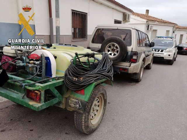 Cuba de fumigar recuperada por la Guardia Civil