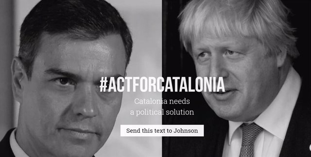 Campanya d'Òmnium perquè els ciutadans europeus enviïn missatges als seus caps de govern