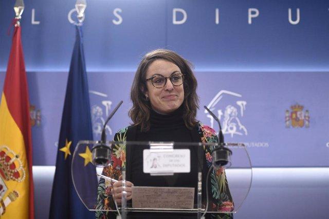 La diputada de la CUP en el Congreso, Mireia Vehí