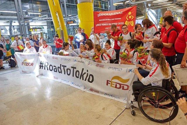 La selección femenina de baloncesto en silla de ruedas llega a España tras logra el billete a Tokio