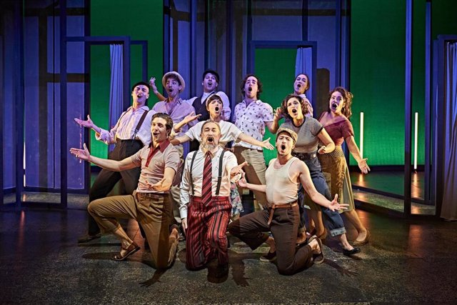 Los actores de la Joven Compañía Nacional de Teatro Clásico interpretando 'La señora y la criada', de Calderón de la Barca.