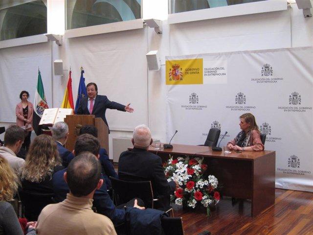 Vara en el acto en Badajoz por el Día de la Constitución