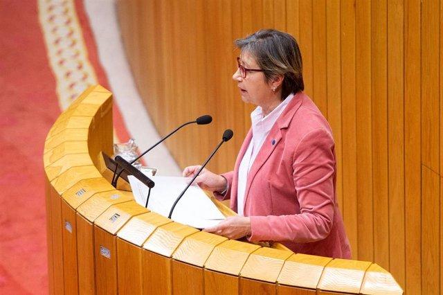 La conselleira do Mar, este martes en el Parlamento
