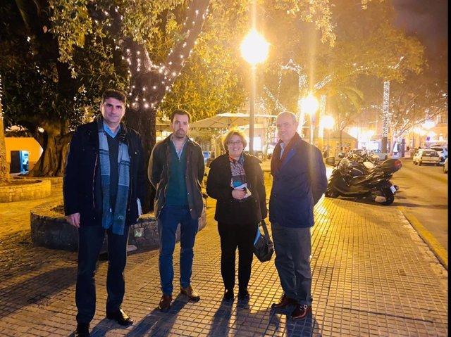El grupo municipal popular visita la plaza del Mercat