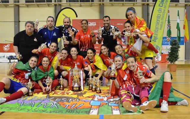 Atlético Navalcarnero campeón de la XXIV Copa de España de fútbol sala femenino