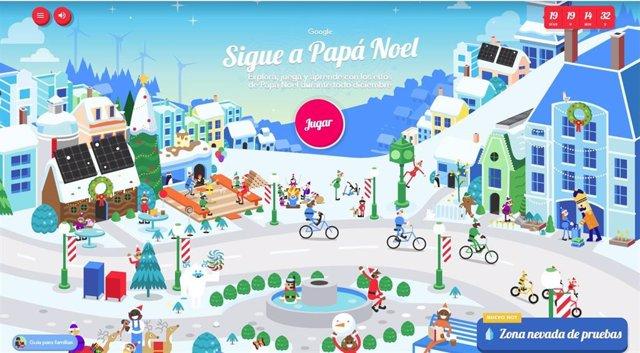 Google actualiza su navegador para la Navidad, con la Aldea de Papá Noel como atracción principal.