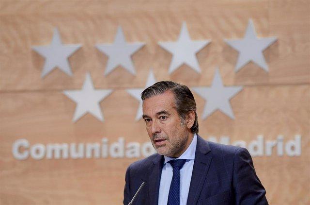 Imagen de archivo del consejero de Justicia, Interior y Víctimas de la Comunidad de Madrid, Enrique López.