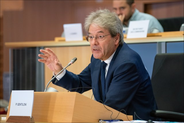 HANDOUT - 03 October 2019, Belgium, Brussels: European Commissioner-designate in charge of Economy Paolo Gentiloni