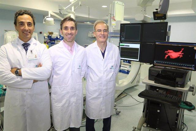 Equipo de arritmias del Hospital Quirónsalud Málaga