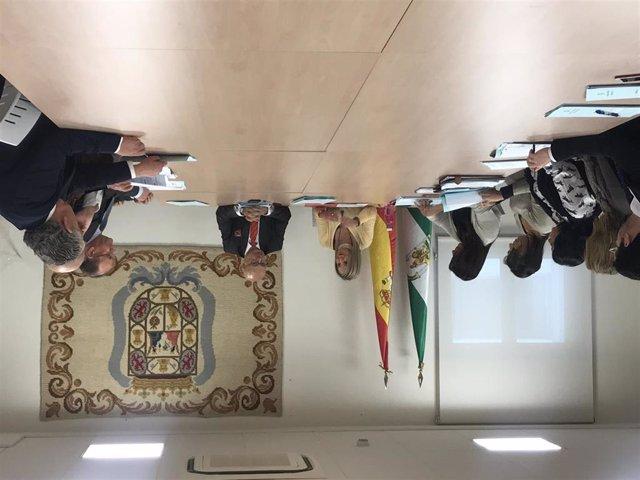 Imagen de los fiscales andaluces con competencias en los delitos de seguridad vial  en la reunión mantenida