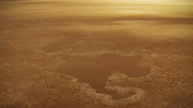 Descripción artística del paisaje de Titán