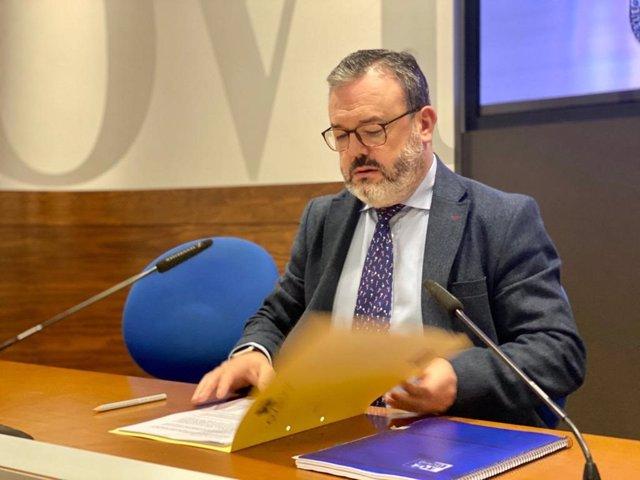 Concejal de Turismo y Congresos del Ayuntamiento de Oviedo, Alfredo García Quintana.