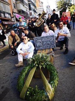 """Manifestación en San Juan contra la """"muerte del comercio"""""""