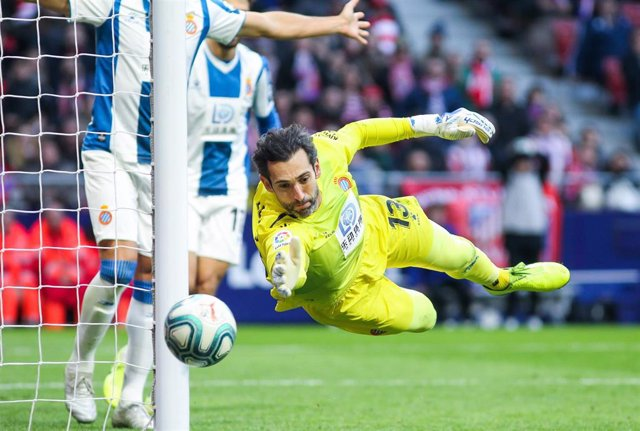Diego Lopez, player of Espanyol from Spain, in action during the spanish league La Liga football match played between Atletico de Madrid and Espanyol  at Wanda Metropolitano Stadium on November 10, 2019, in Madrid, Spain