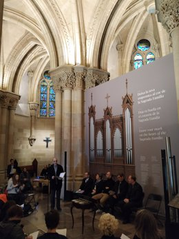 Presentación del nuevo órgano romántico que tendrá la cripta de la Sagrada Família
