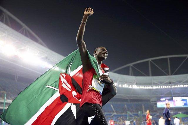 David Rudisha, campeón olímpico de 800 metros en Río