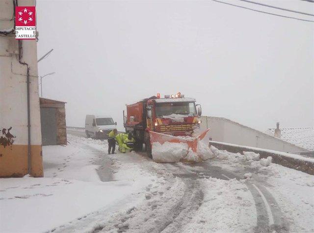 Nieve en el norte de Castellón