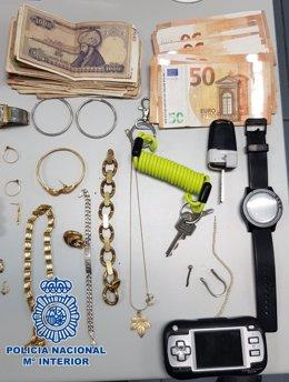 Material incautado por Policía Nacional