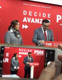 El secretario general del PSRM-PSOE y portavoz del Grupo Parlamentario Socialista, Diego Conesa