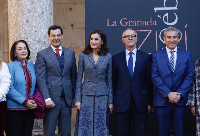 Granada.-La reina Letizia llega a la Alhambra para abrir la exposición que servi