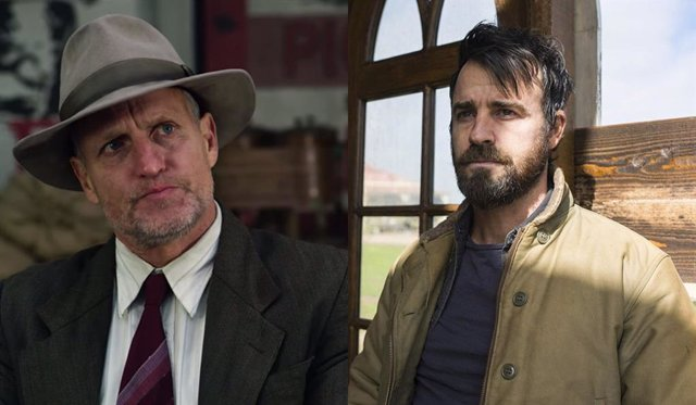 Los actores Woody Harrelson y Justin Theroux