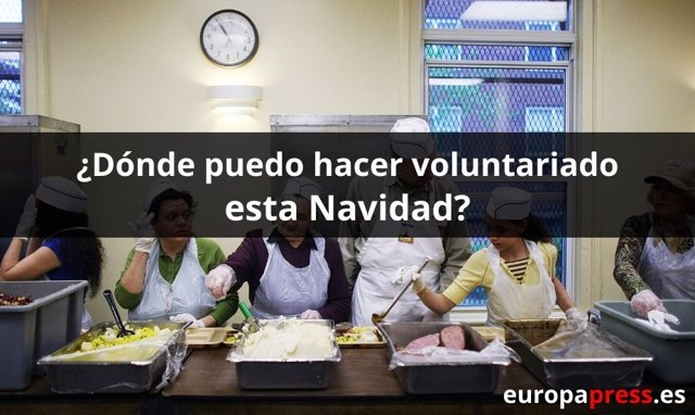 Dónde hacer voluntariado esta Navidad