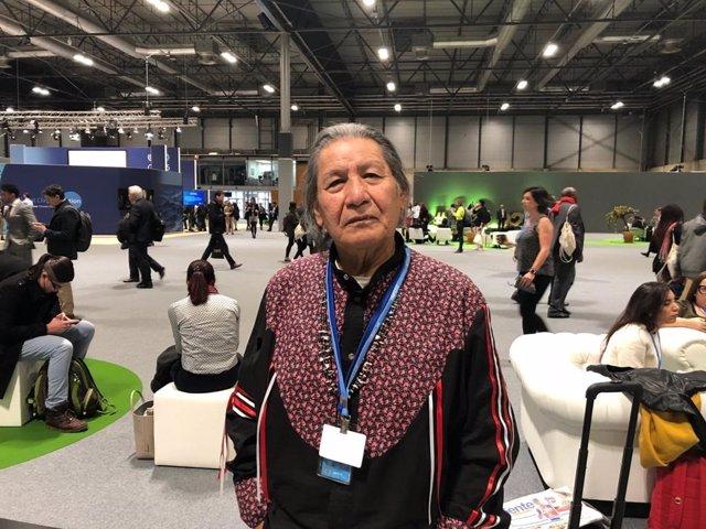 Mario Agreda, representante de los pueblos indígenas, en la COP25