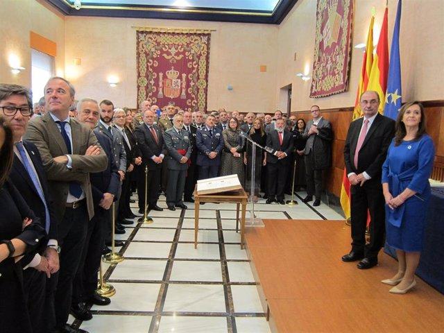 Acto de celebración del Día de la Constitución en la Delegación del Gobierno de España en Aragón.