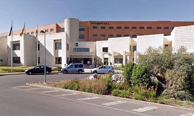 Entrada del Hospital de Antequera.