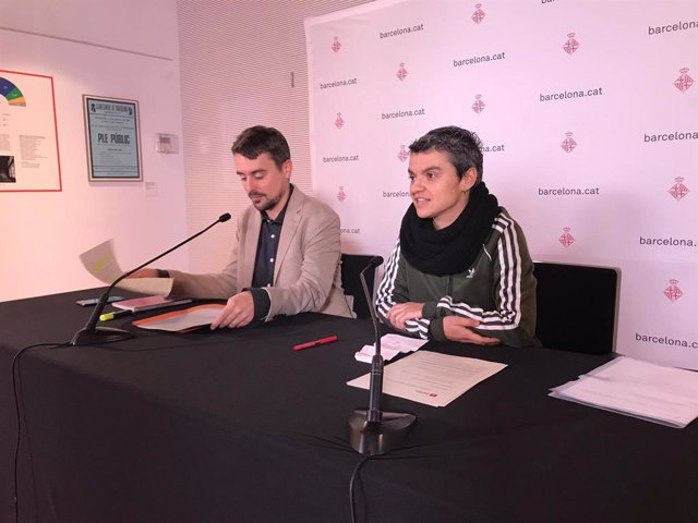 Els regidors Marc Serra i Lucía Martín, BComú