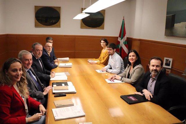 Reunión entre Gobierno Vasco y Elkarrekin Podemos sobre los Presupuestos vascos