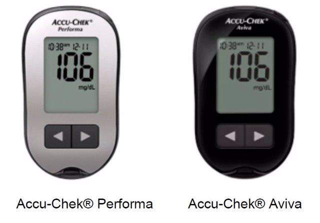 'Accu-Chek Performa'  Y 'Accu-Chek Aviva'