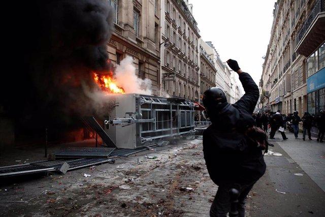 Disturbios durante las protestas en París