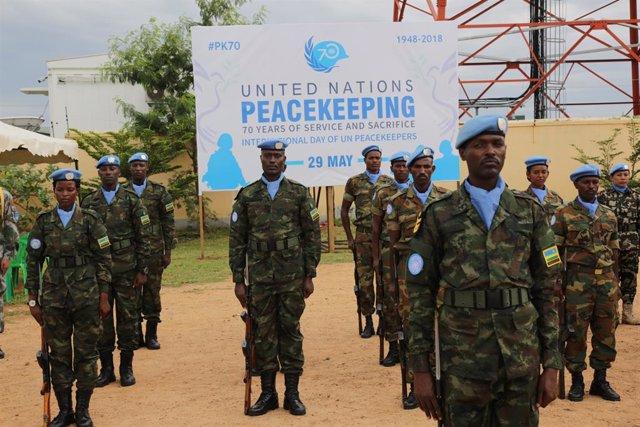 Membres de la misisó de pau de l'ONU al Sudan del Sud (UNMISS)