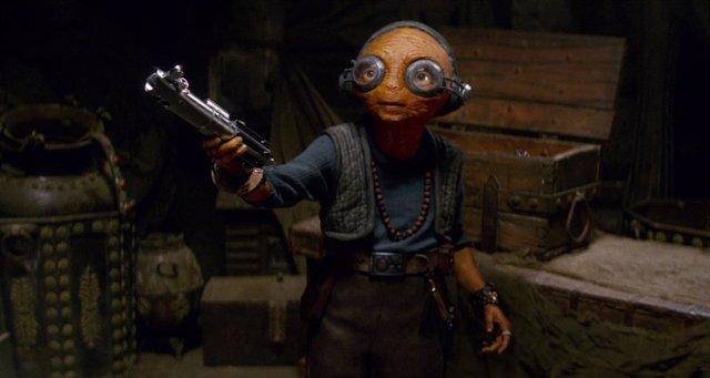 Lupita Nyong'o (Maz Kanata) en Star Wars