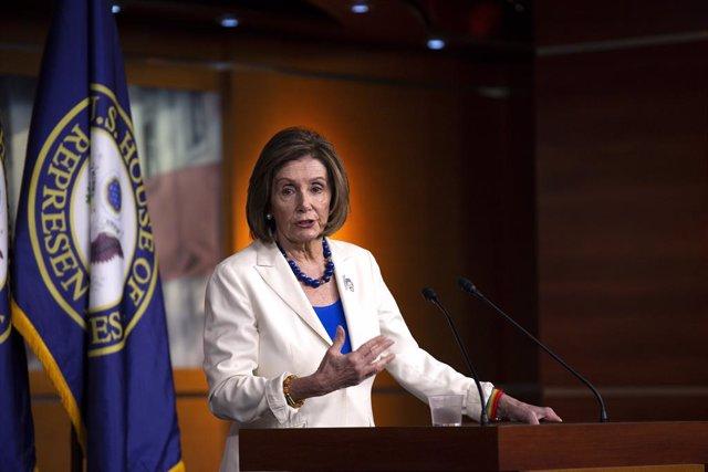 11/21/2019 - Washington, Barriada de Colúmbia, Estats Units d'Amèrica: el ponent dels Estats Units Conté de Representants Nancy Pelosi (Demòcrata de Califòrnia)