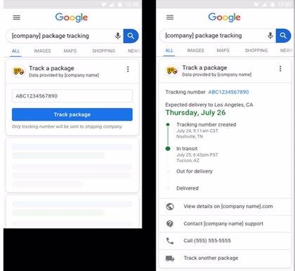 Google anuncia un rastreador de pedidos directamente desde su buscador