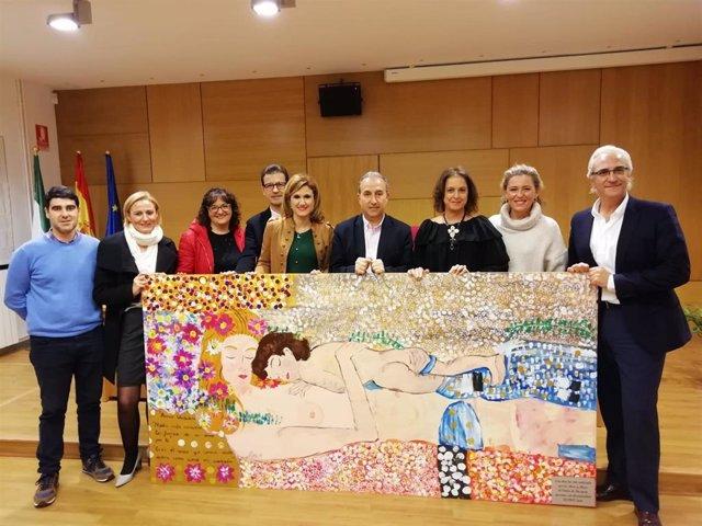 Obra donada por Aspace Jaén a la Delegación de Salud y Familias