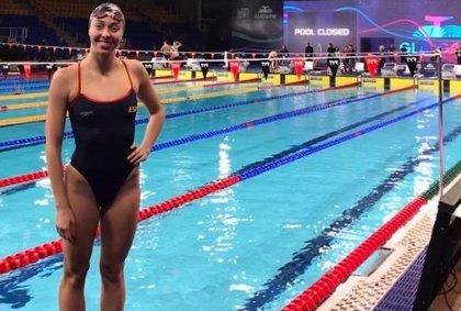 Marca personal de Paloma de Bordons en el 4x50 estilos del Europeo en piscina corta de Glasgow